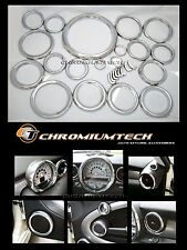 2007 and up BMW MINI Cooper R55 R56 R57 Chrome Interior Dial Trim Kit 27pc. NEW