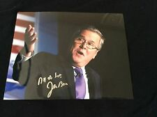 JEB BUSH SIGNED 8X10 PRESIDENT REPUBLICAN FLORIDA GEORGE AUTO COA