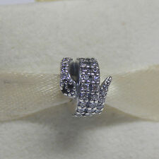 New Authentic Pandora Charm 791539CZ Sparkling Snake Box Included