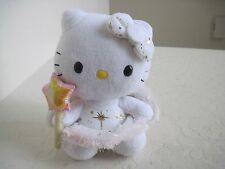TY Sanrio HELLO KITTY ANGEL WINGS W/ STAR Holiday Plush Stuffed Animal 6""