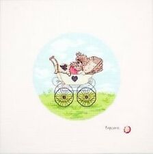 Baby Popcorn Cross Stitch Kit - 13.5cm Diameter