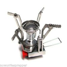 Camping Stove - Foldable - Doomsday Prepper Hiking Survival Cooking Bug Out Bag