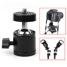 "360°Swivel Mini Ball Head Bracket Mount 1/4"" for DSLR DC Camera Tripod hu4d"