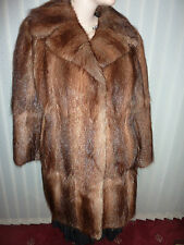 "Ladies real soft Bisam Mink fur coat bust 38"" size 12 length 32"""
