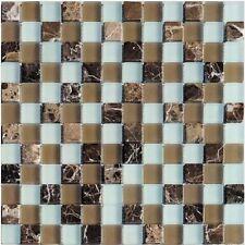 Glassteinmosaik Beige Weiss 23 Bad Renovieren Granit Fliesen Mosaik Bodenbelag