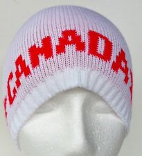 CANADA FLAG CANADIAN MAPLE LEAF WHITE RED SKI HAT TUQUE BEANIE CHAPEAU