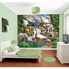 Walltastic JUNGLE ADVENTURE MURALE PARETE 2.44 M X 3,05 M nuovi animali stanza DECOR