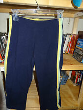 ASPIRE Stretch Capri Capris Size Small Navy with Green & Yellow L@@K
