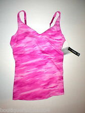 NWT Womens Studio Lux Under Armour New L Top Bra Pink Camo Yoga Pilates Barre