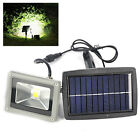10W LED Solar Powered Mount Flood Light Outdoor Home Yard Garden Lawn Spot Lamp