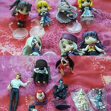 Anime & game figures set. Final Fantasy, Death Note, Sailor Moon, Fate staynight