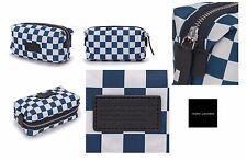 Marc by Marc Jacobs Women's microfiber+leather trim Domo Arigato Blue makeup bag
