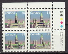 CANADA #1165 38¢ Houses of Parliament UR Plate Block MNH