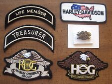New HOG Eagle Patch Pin Lot Harley Davidson Life Member Treasurer USA Flag Wings