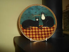 WARREN KIMBLE Folk Art Plate PROPER CATS Lenox 1995 Collectable