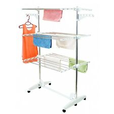 Kingsman Heavy Duty 3 Layer Drying Rack Cloth Stand-DS-10