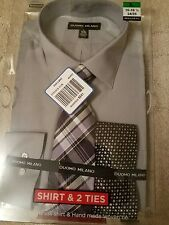 Duomo Milano Men's  Dress Shirt  & 2 ties