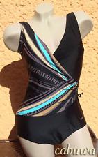Luxus Designer Badeanzug Gr. 52C mit Korsage von NATURANA. NEU! Schwarz