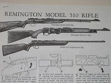 REMINGTON MODEL 510-11-512 RIFLE EXPLODED VIEW
