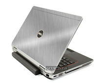 BRUSHED ALUMINUM Vinyl Lid Skin Cover fits Dell Latitude E6420 Laptop