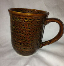 JACLYN SMITH CHINA TODAY MOTTLED BROWN MUG 12 OZ BRYDAN SPONGED