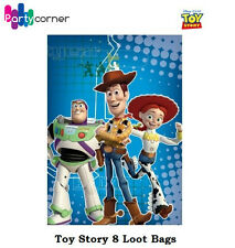 TOY STORY PARTY SUPPLIES LOOT BAGS / LOLLY BAGS TREAT BAGS PACK OF 8