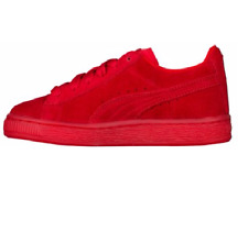 NEW Puma Suede Classic Casual Emboss Red Suede Lace Up Sneakers Shoes Mens 11.5
