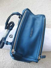 Givenchy AUTH. Grained Goatskin Pandora Mini Messenger Crossbody Blue NWT
