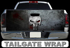 T266 PUNISHER Tailgate Wrap Decal Sticker Vinyl Graphic Bed Cover