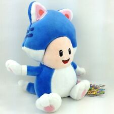 Super Mario Bros 3D World Cat Toad Blue Suit Soft Plush Toy Stuffed Animal 7.5""