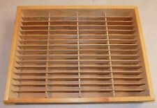 CASSETTE CASE wall shelf WOODEN STORAGE RACK holds 64 tapes Napa Valley style