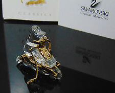 NEW Swarovski Crystal Memories IN LINE ICE SKATE Roller Blade Gold Figure 243443