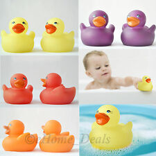 4 x Colour Changing Mini Rubber Ducks Fun Kids Babby Bath Water Play Squeaky Toy