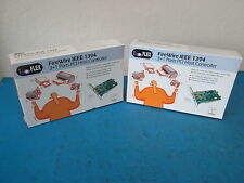 LOT OF 2 I/O Flex PFW410 FireWire IEEE 1394 3+1 Ports PCI Host Controller