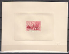 France Paris 1942, Vignette, View, The Stock Market for Stamps, Red Die Proof