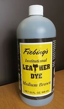 FIEBING INSTITUTIONAL LEATHER DYE (WATER BASED)  946ML  LARGE BOTTLE - MED BROWN