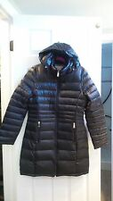 NWT WOMENS ANDREW MARC LONG DOWN 650 FILL DETACHABLE HOODED JACKET MED ORCHID