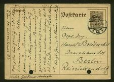 1935 POSTAL CARD HIGGINS & GAGE 294 TO BERLIN