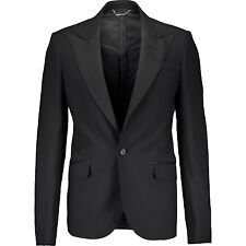 75% OFF BALMAIN Black Tuxedo Suit Blazer IT48/UK38 RRP £1050 smooth as silk wool