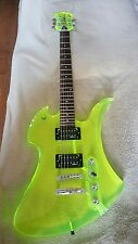 RARE!!! BC RICH ACRYLIC MOCKINGBIRD ELECTRIC GUITAR GREEN PERFECT!!!