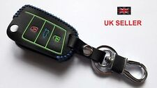 NEW VW GOLF MK7 POLO JETTA SCIROCCO LEATHER COVER 3 BUTTON CASE FLIP KEY FOB