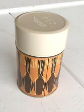 Vintage Thermos, Knife Fork Design King Seeley USA Orange Retro Hipster Thermos