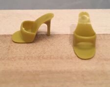 Barbie Vintage Yellow Mustard High Heel Open Toe (OT) Shoes Japan Marked. Mule