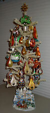 Christopher Radko: Twelve Days of Christmas, CR Tree & 18 CR Pear Ornaments -ISW