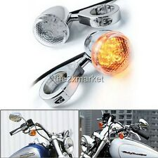2x 18 LED Turn Signal Light Blinker 41mm Clamp Fork Mount For Harley Davidson