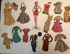Big Lot 1940s/50s PAPER DOLLS Doris Day Bridal Sparkle Plenty Debbie Reynolds