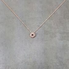 Dainty Rose Gold Filled Compass Navigation Circle Traveler Necklace Good Luck