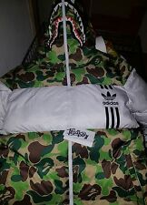 BAPE X ADIDAS DOWN JACKET ID96 DOWN JACKE A BATHING APE firebird trackjacket