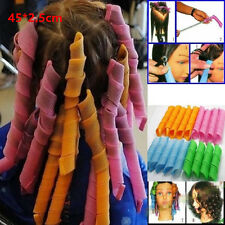 18Pcs Magic Hair Curlers Tool Curl formers Spiral Ringlet Leverag rollers 45CM