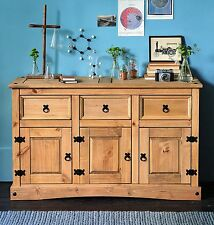 Vintage Kitchen Sideboard Storage Unit Cupboard Display 3 Drawer Cabinet Dresser